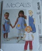 Toddlers tops, pants and jumpsuit in two lengths sizes 1-2-3-4 Mccalls pattern M4756
