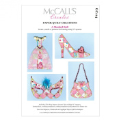 McCall's Creates W10613 Paper Quilt Creations Craft Pattern, A Masked Ball Greeting Card