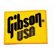 Gibson usa brand of music instrument Embroidered Iron On / Sew On Patch