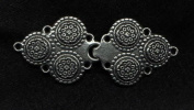 "Pewter Viking ""Solje"" Cloak or Cape Clasp"