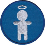 Angel Silhouette - Angels & Devils - Iron on or Sew on Embroidered Patch