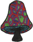 Black Stem Mushroom - Mushrooms - Iron on or Sew on Embroidered Patch