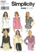 Simplicity 5801 Misses' Blouse with Sleeve Variations Size U5