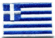 Flag of Greece Greek Hellenic Freedom or Death Applique Iron-on Patch Med. S-349 Cute Gift to Your Cloth.