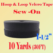 2.5cm - 1.3cm (3.8cm ) Width Black or White Sew on Hook & Loop - Premium Grade Non-adhesive Sew-on Style Sold Includes Hook and Loop Both Strips Interlocking Tape Sold By 5, 10, 27 Yards
