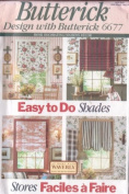 Butterick 6677 Sewing Pattern Home Decor Window Treatments Easy To Do Shades