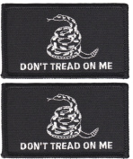 Don't Tread On Me Gadsden Tactical Patch (2 PACK - WITH hook and loop Black and White