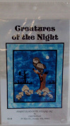 Great Creatures of the Night Quilting Pattern Wall Hanging by Sunset Silhouette Designs