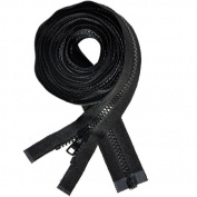 180cm Vislon Zipper ~ YKK #5 Moulded Separating ~ Sleeping Bag ~ Black