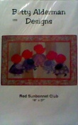Red Sunbonnet Club Wall Hanging