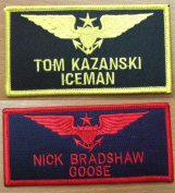 Topgun Call Sign Patches ICEMAN & Goose Top gun Badges Iron On or Sew US Navy Fighter Weapons School for Jacket