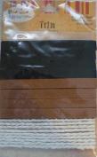 Zippy Bow Wow Meow Trim - by Sue Zipkin - Black & Brown Suede, Ecru Twisted Cord - MSLT-4036