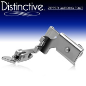 Distinctive Adjustable Zipper Piping Cording Sewing Machine Presser Foot - Fits All Low Shank Singer, Brother, Babylock, Euro-Pro, Janome, Kenmore, White, Juki, New Home, Simplicity, Elna and More!