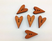 100pcs Mixed Wooden Buttons in Bulk Buttons for Crafts Mixed Buttons Vintage Heart Bu-74