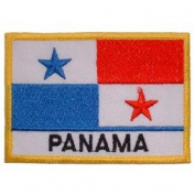 International World Countries Rectangle Flag Iron On Patch - Panama Applique