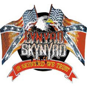 Lynyrd Skynyrd Flag & Eagle Logo Rock Roll Music Band Embroidered Iron On Patch