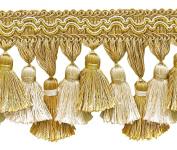 Light Gold, Ivory 9.5cm Imperial II Tassel Fringe Style# TFI2 Colour