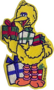 Sesame Street Cartoon Patch - 14cm Big Bird With Gifts