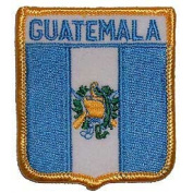 Novelty Embroidered Iron on Patch - International Flag Sheild Collection - Guatemala Crest Applique