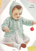Knitting PATTERN to make - Baby Hooded Sweater Jacket Hoodie Coat. NOT a finished item. This is a pattern and/or instructions to make the item only.