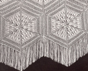 Vintage Knitting PATTERN to make - Dahlia Motif Bedspread Knitted Blocks Afghan. NOT a finished item. This is a pattern and/or instructions to make the item only.
