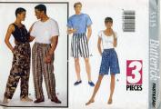 Butterick 3515 Misses' & Mens' Shorts & Pants Size 24 - 34