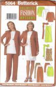 Butterick 5064 Misses' Jacket, Dress, Tunic, Skirt & Pants, Size 12, 14, 16