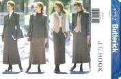 Butterick 5752 Misses' Jacket, Belt, Vest & Skirt, Size 6, 8, 10