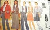 Butterick Sewing Pattern 4637 Misses'/ Misses' Petite Jacket, Vest, Top, Skirt & Pants, Size 6 8 10