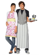 CHILD TO YOUNG ADULT APRONS MULTIPLE SIZES TO FIT AGE BURDA STYLE PATTERN 7411 RATED EASY TO SEW