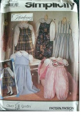 CHILDS JUMPER, JUMPSUIT & BLOUSE SIZES 2-3-4 OLIVER GOODIN CLASSIC HEIRLOOM SEWING - SIMPLICITY 7944
