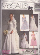 McCall's 6334 Misses' Bridal Gown and Bridesmaids' Dresses, Size E 14, 16, 18