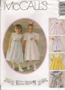 McCall's 7016 Girls' Dress and Pantaloons, Size 8