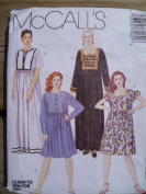 McCall's 7145 Misses' Loose Fitting Dress in 2 Lengths, Size 12 14