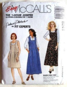 McCall's Sewing Pattern 8241 Misses' Dress or Jumper - 1 Hour Pattern, MED