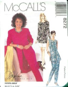McCall's Sewing Pattern 8272 Misses' Unlined Jacket or Vest, Pull-on Pants & Skirt, E
