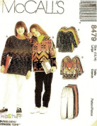 McCall's Sewing Pattern 8479 Girls' Tops & Pull-on Pants (Stretch Knits Only), Size MED