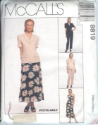McCall's Sewing Pattern 8819 Misses' Lined Jacket, Lined Dress, Pants & Skirt, Size 12