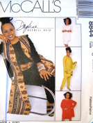 McCall's Sewing Pattern 8844 Misses' Unlined Vest in 2 Lengths, Tunic, Pull-on Pants, Skirt & Sash, Size C