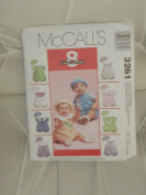 McCalls Sewing Pattern #3261 : Infants' Rompers with Snap Crotch and Hat