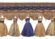 NAVY BLUE TAUPE 10cm Baroque Tassel Fringe Style# TFB1 Colour