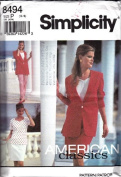 Simplicity 8494 Misses' Career Separates, Pants, Skirt, Top & Unlined Jacket, Size P 12 14 16