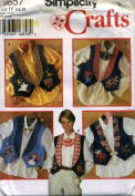 Simplicity Crafts Vest Sewing Pattern with appliques pattern number 24530cm sizes 6-8-10