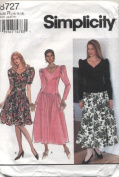 Simplicity Formal Dress in Two Lengths Sewing Pattern #8727