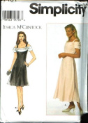 Simplicity Sewing Pattern 7461 Misses' Dress - Jessica McClintock, P
