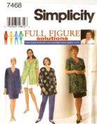 Simplicity Sewing Pattern 7468 Womens' Blouse, Pants, Shorts & Skirt, GG