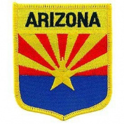 United States USA State Flag Shield Crest Novelty Iron On Patch - Arizona Applique