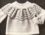 Vintage Knitting PATTERN to make - Baby Sweater and Romper Set 1 yr-18 mo. NOT a finished item. This is a pattern and/or instructions to make the item only.