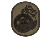 "Mil-Spec Monkey ""Berserker"" PVC hook and loop Patch - Desert"