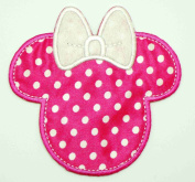 10cm Minnie Mouse Pink Head Face Iron on Patch Applique Decoration Piece Badge